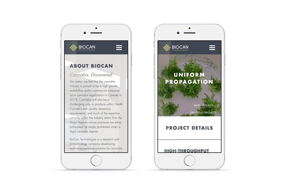 HOVR Marketing BioCan Website Display