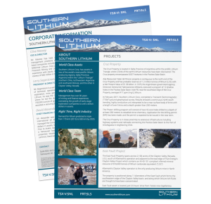 HOVR Marketing services presentation and fact sheet for southern lithium