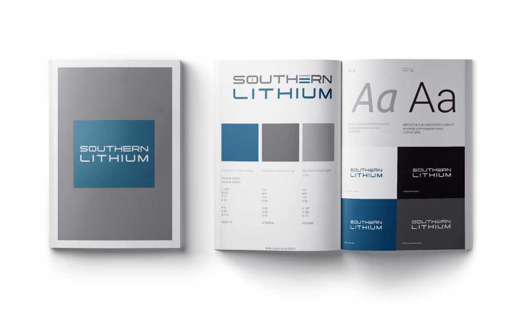 HOVR marketing branding package for Southern Lithium